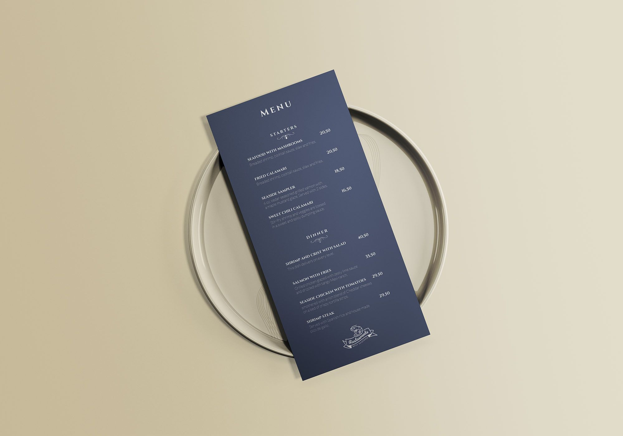Free Restaurant Menu Mockup To Showcase Your Branding Cafe Menu Design In A Photorealistic Look Free Psd Mockup F Menu Mockup Menu Restaurant Menu Mockup Free