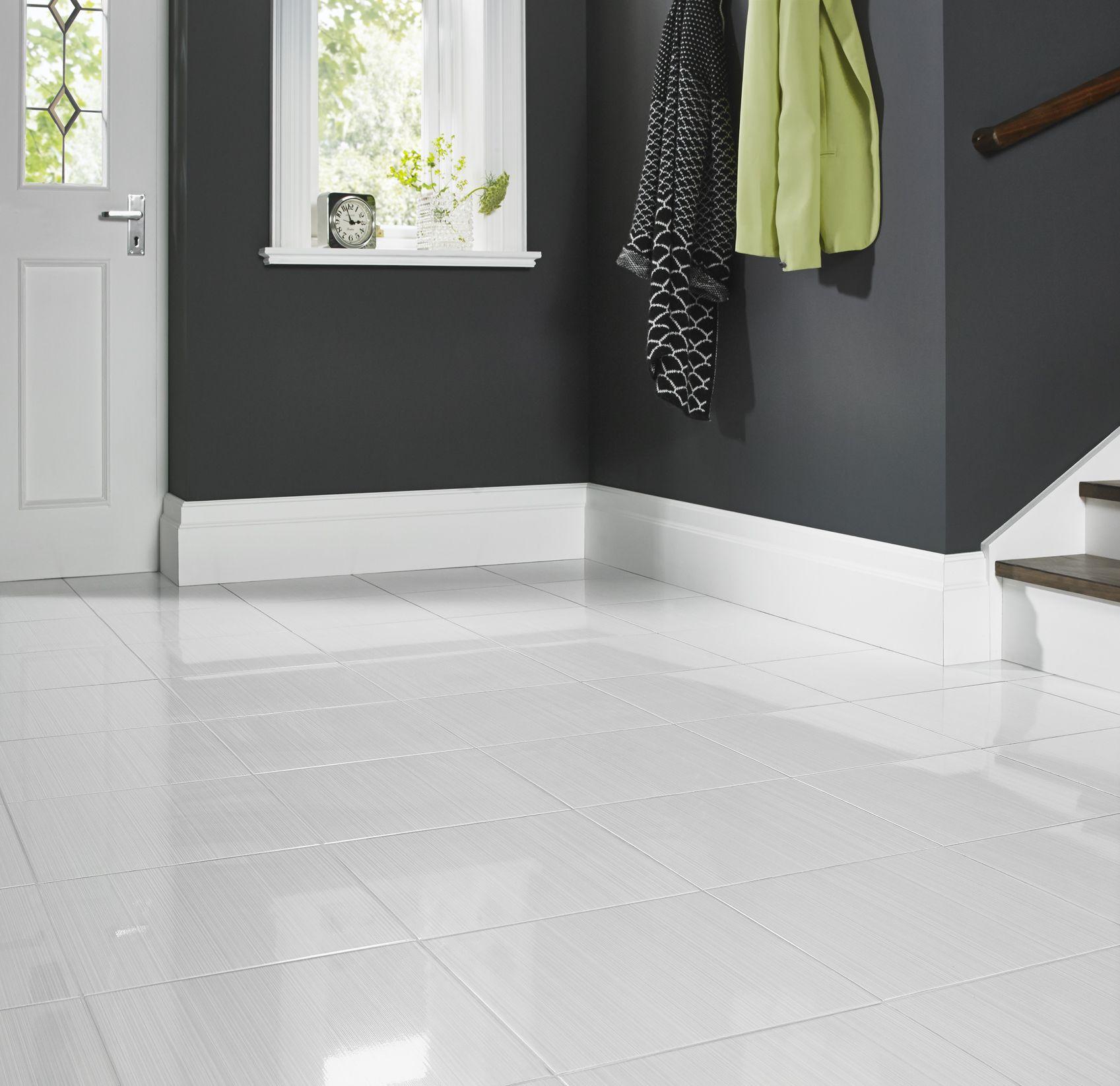 Blairlock White Floor Tile set in Entryway | Blairlock White ...