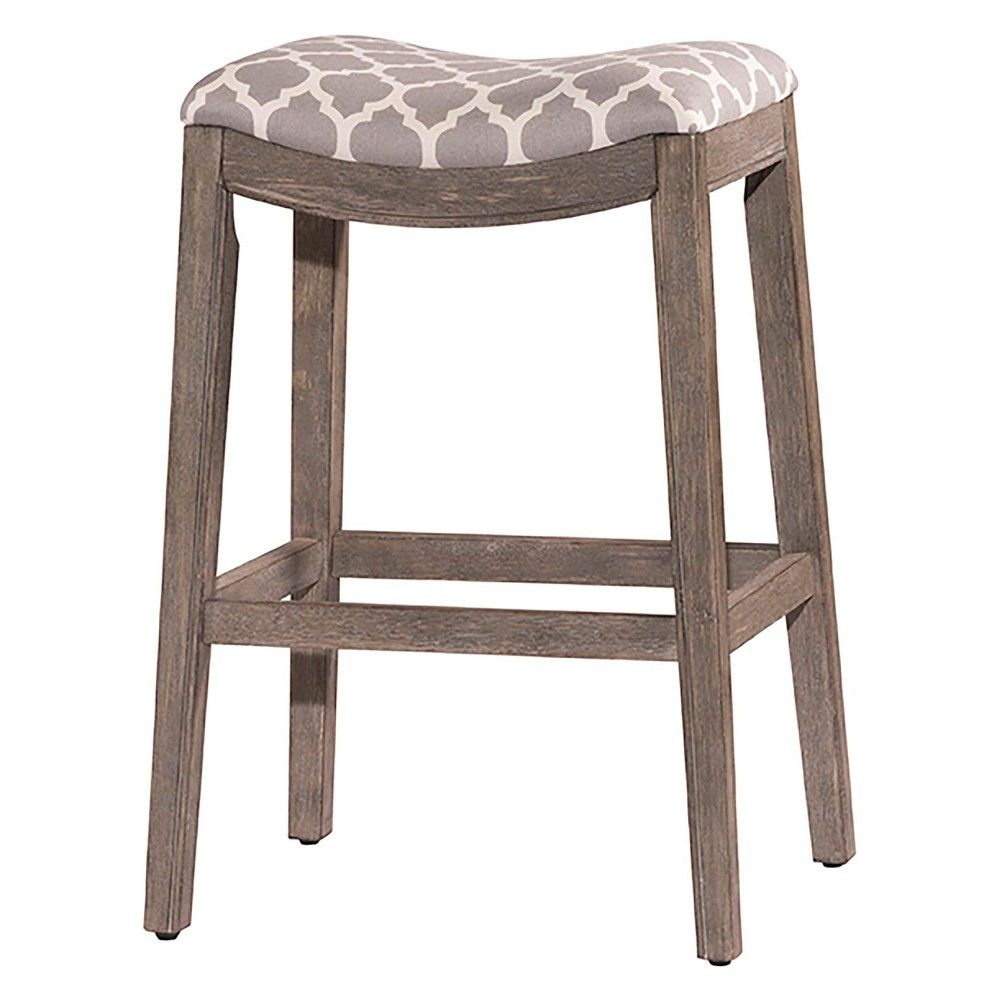 Saddle Barstool With Padded Seat And Footrests For Comfort Brings