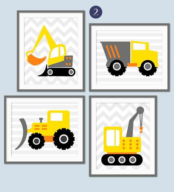 Descripcion Los Ninos Aman Sus Juguetes Grandes Y Estas Impresiones De Construccion Convertira Camiones Para Ninos Arte Para Guarderia Maquinas De Construccion