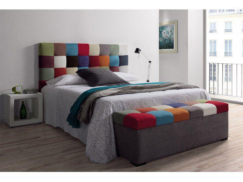 Cabezal tapizado de 90 capitone patchwork casa - Cabezales de tela ...