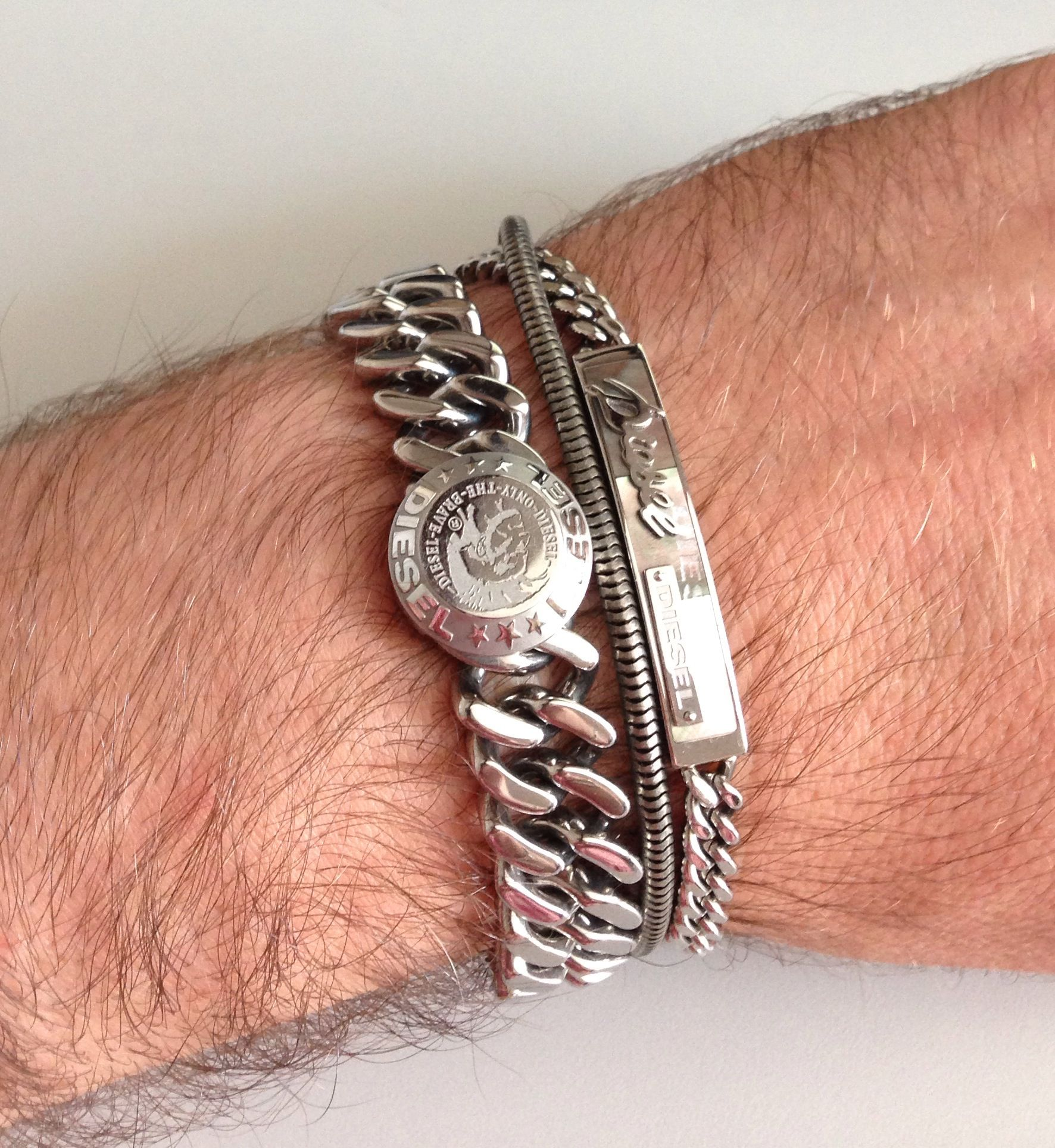 Diesel men's steel bracelets