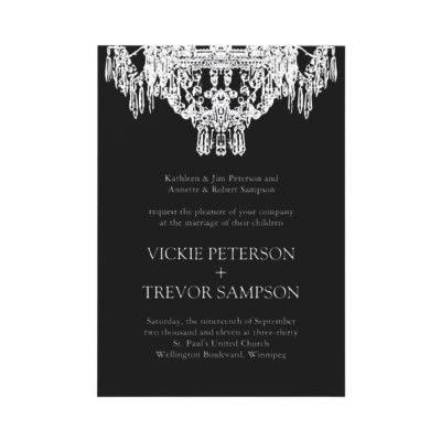 Black and white chandelier wedding invitations from httpwww black and white chandelier wedding invitations from httpzazzle aloadofball Choice Image