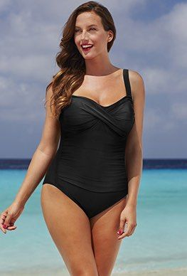 Shop All - Shore Club Black Twist-Front Swimsuit