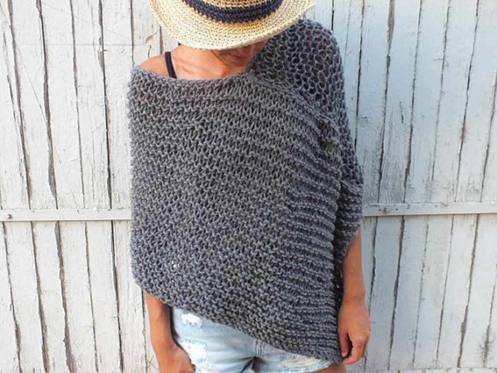Modele A Tricoter Gratuit Poncho Enfant Laine Lanas Stop Eco Alpaca Poncho Tricot Tricot Facile Poncho Laine