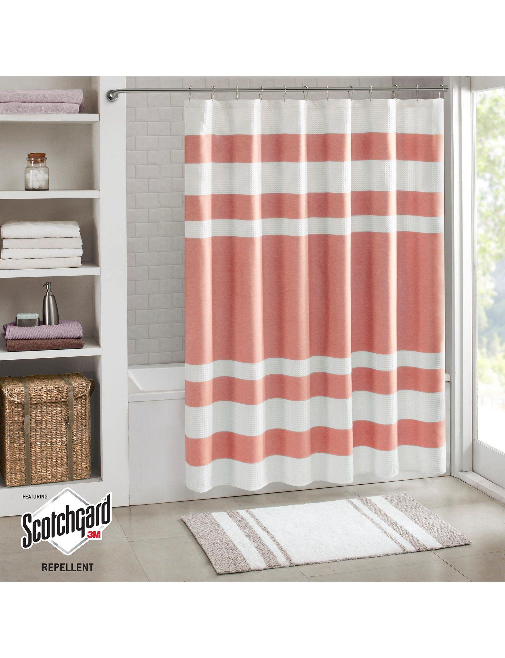 Madison Park Coral Shower Curtains Hooks