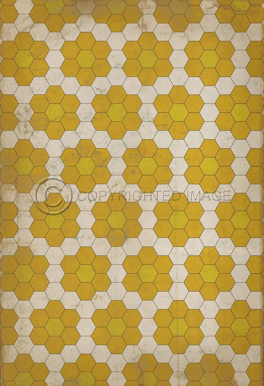 Big Size 11 58 Sqft Decorative Vinyl Floor Cloths Pattern Ii Yellow On Yellow Pura Vida Home Decor Flooring Vinyl Flooring Floor Cloth Vinyl Floor Mat