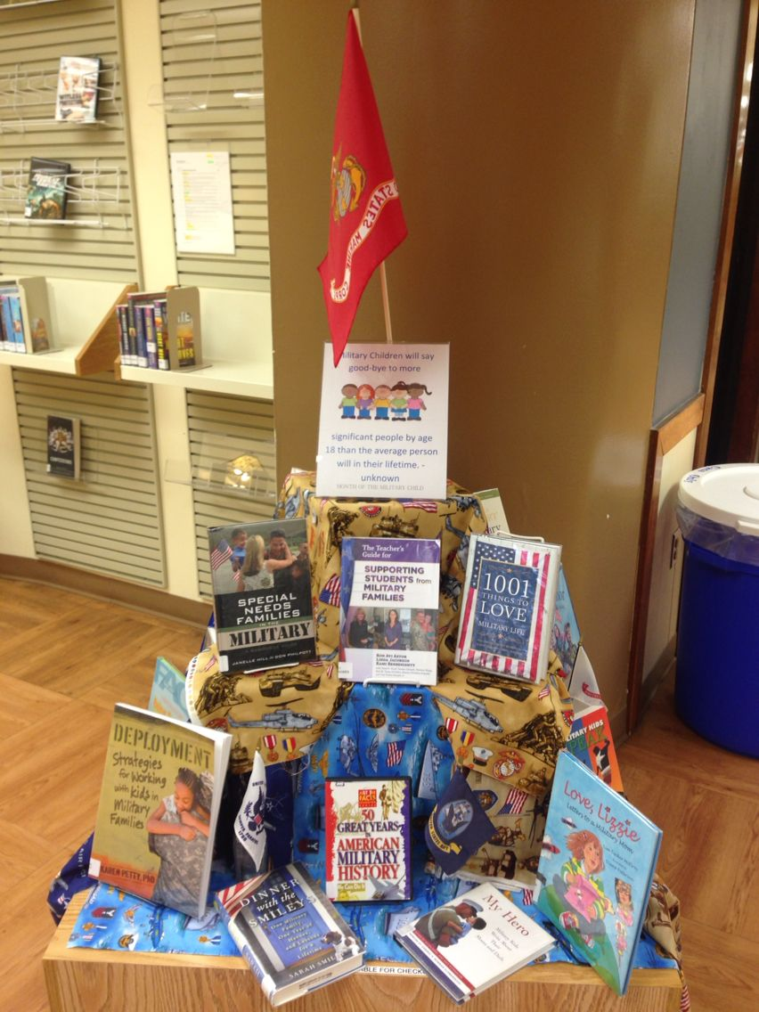 Month of the Military Child April Library Display