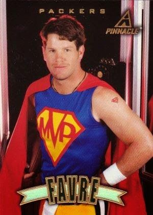 PHOTO: Trading Card Featuring Green Bay Packers Legend Brett Favre--Dressed Like Superman (seriously) | FatManWriting