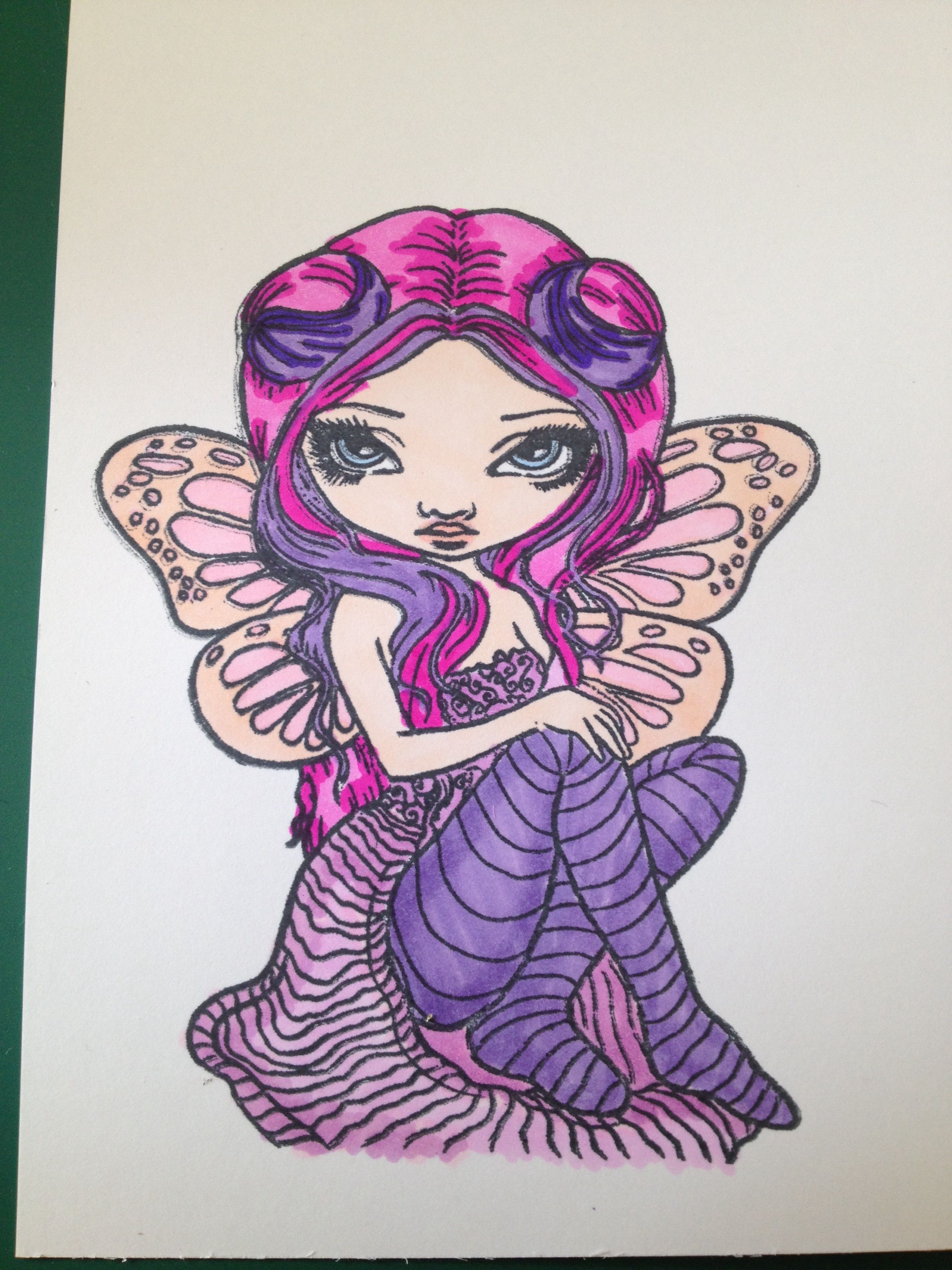 Pink lighting - jasmine becket Griffith (With images) | Fairy art, Halloween coloring book ...