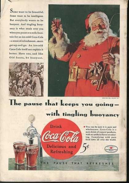 how Coca-Cola associated Santa Claus with Christmas
