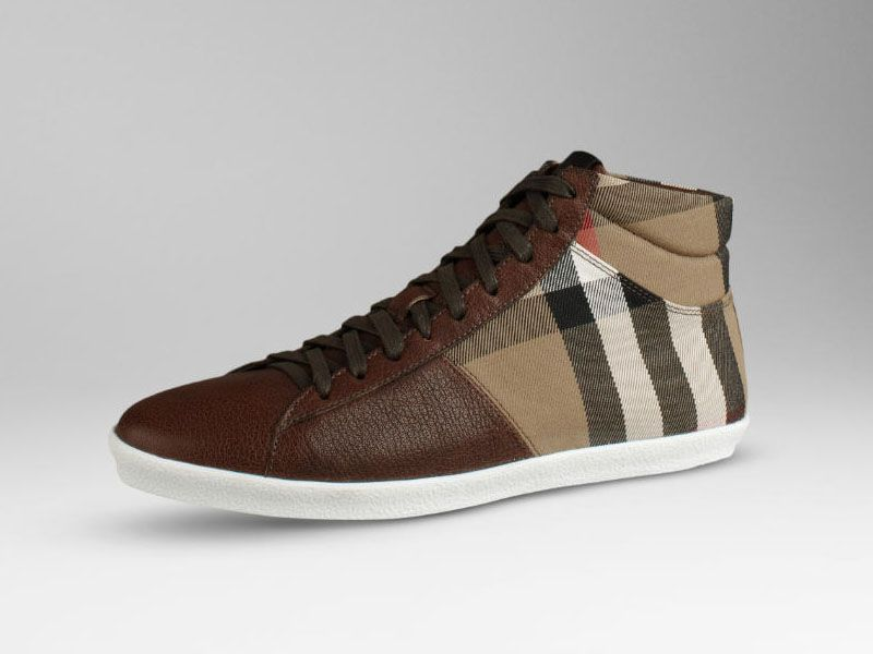Burberry Men Check High Top Trainers | Sneaker Cabinet