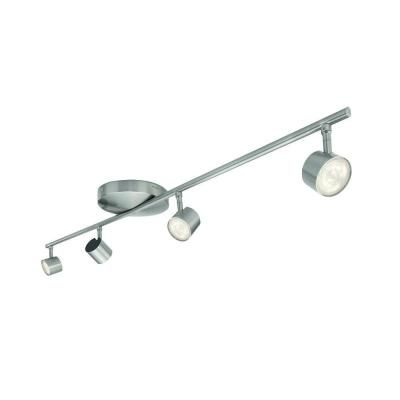 Philips 4 light nickel led integrated track lighting fixture 797928 philips 4 light nickel led integrated track lighting fixture 797928 the home depot aloadofball Choice Image