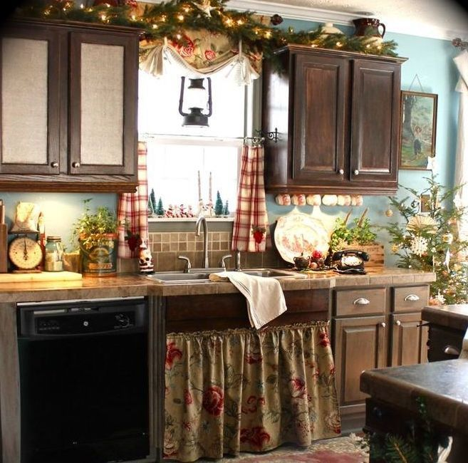 Country Style Kitchens 2013 Decorating Ideas: 40 Cozy Christmas Kitchen Décor Ideas
