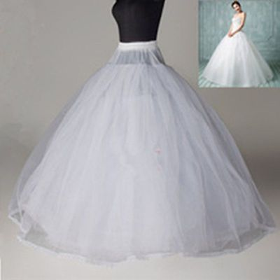 Petticoats Cheap Wedding Formal Dress Pannier Yarn 3 Wire 1 Hard Network Petticoat