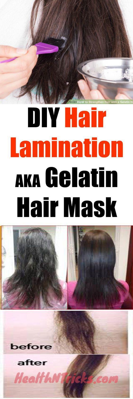 Gelatin mask for hair restoration