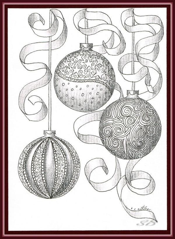 zentangle christmas ornaments | ... , Zentangle Christmas Ornaments ...