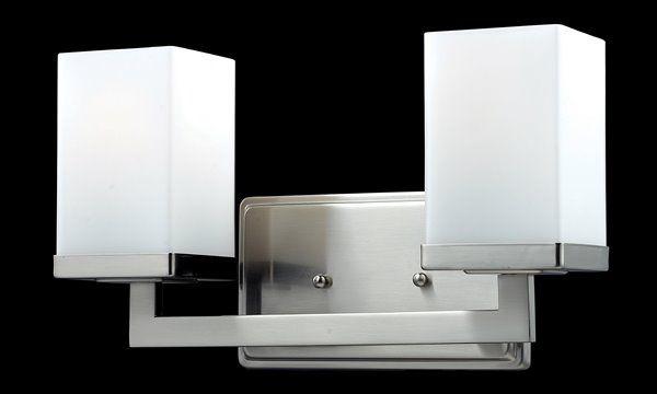Photo of Z-Lite Tidal Brushed Nickel 2 Light Vanity Light