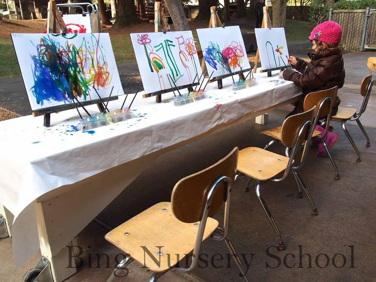 Bing nursery school art easels
