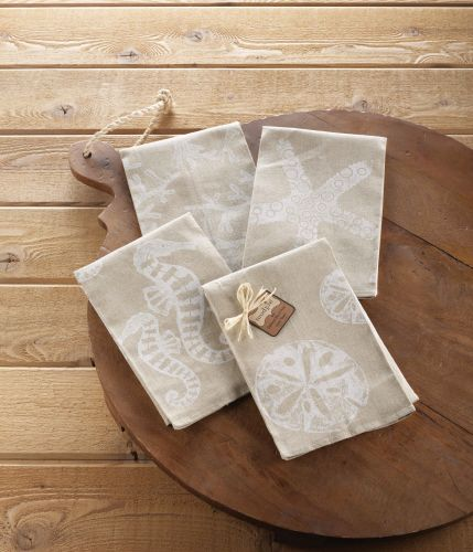 Hand Block Print Creates A Cottage Style Towel For The Bath Beach Continues With Texture Of Linen In Sand Hue