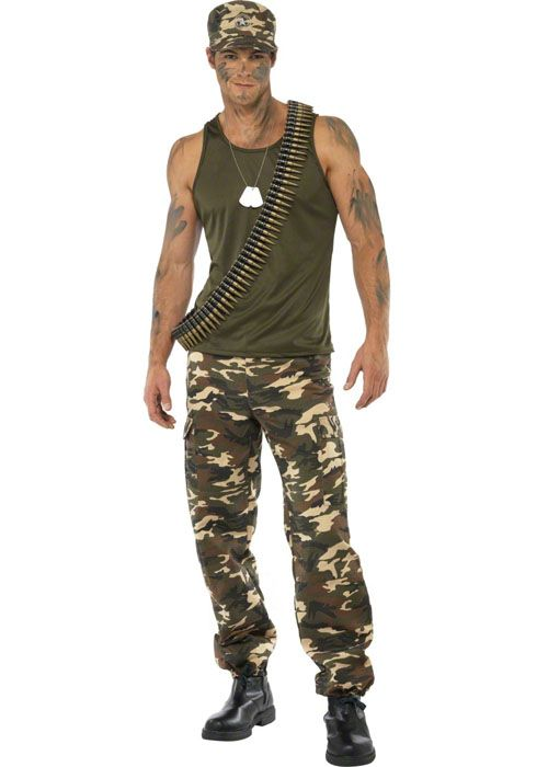 adult army man khaki camo costume