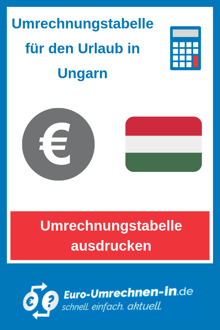 Umrechner forint euro