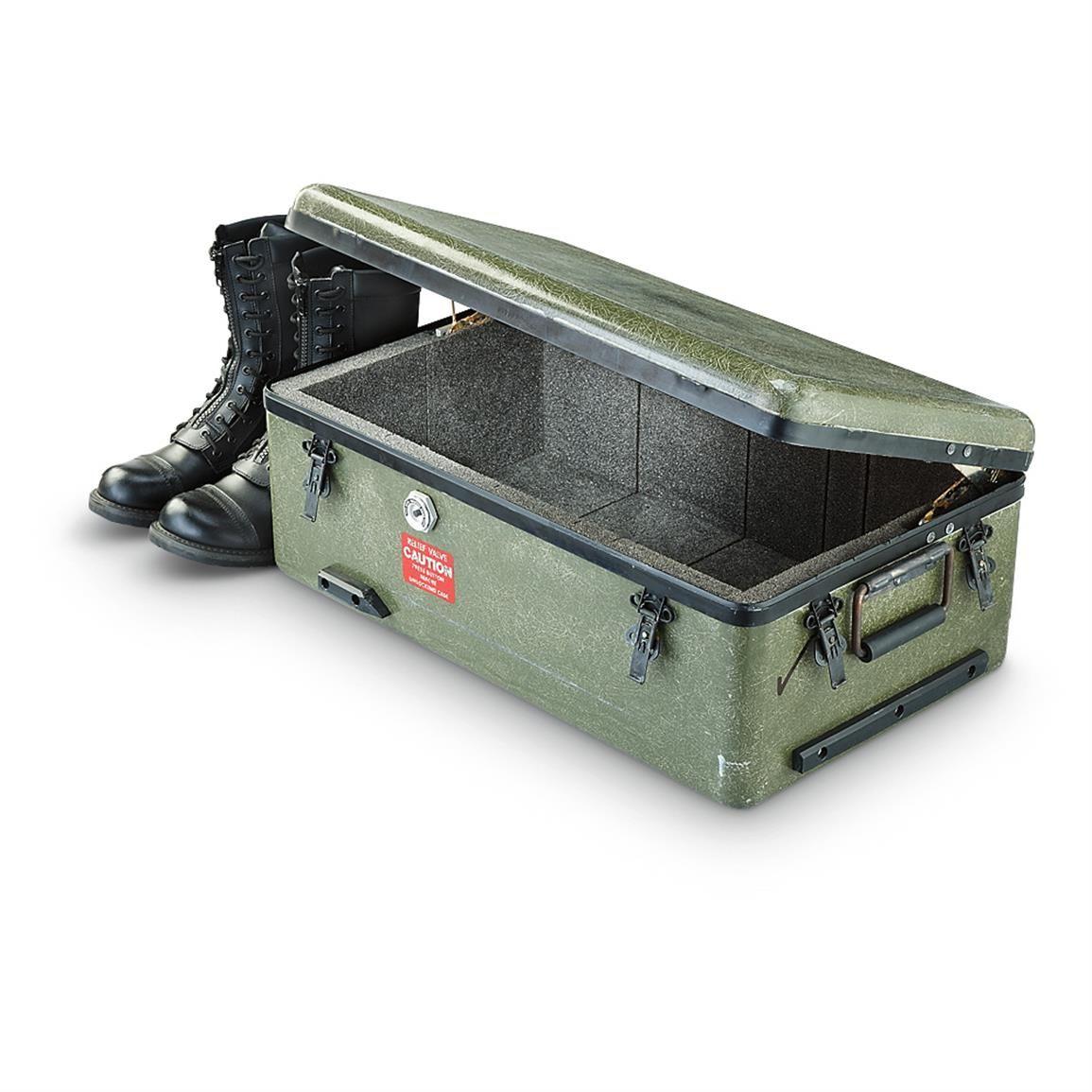 Used U.S. Military Surplus Fiberglass Storage Container U2022 2,109 Cu. In.  Capacity