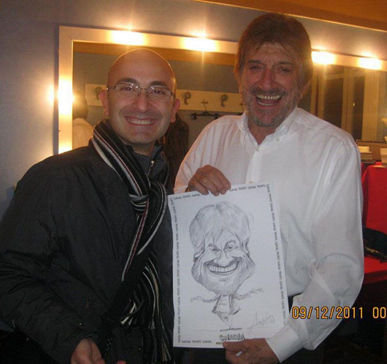 ilCaricaturista.it con il grande attore e maestro Gigi Proietti