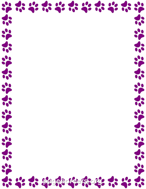 Purple Paw Print Border Borders For Paper Scrapbook Frames Paw Print Browse and download hd paw print png images with transparent background for free. purple paw print border borders for