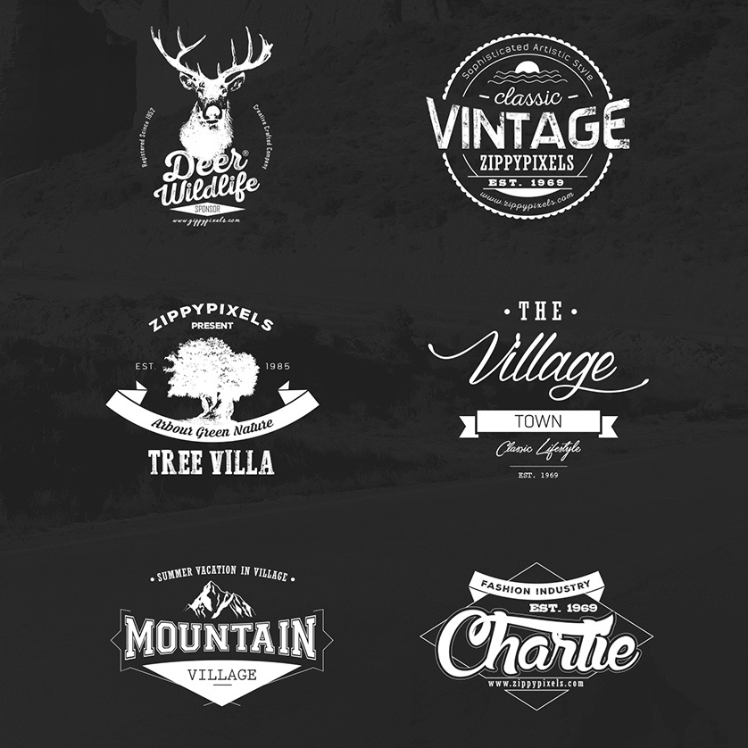 vintage vector logo design kit with 15 free logo templates freebies graphic design vector free