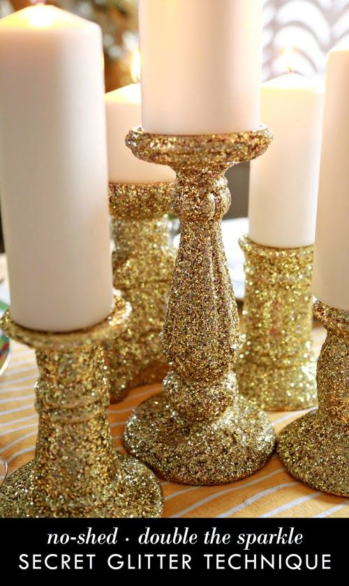 Buy Lifediy College holiday decor glitter candle holders picture trends