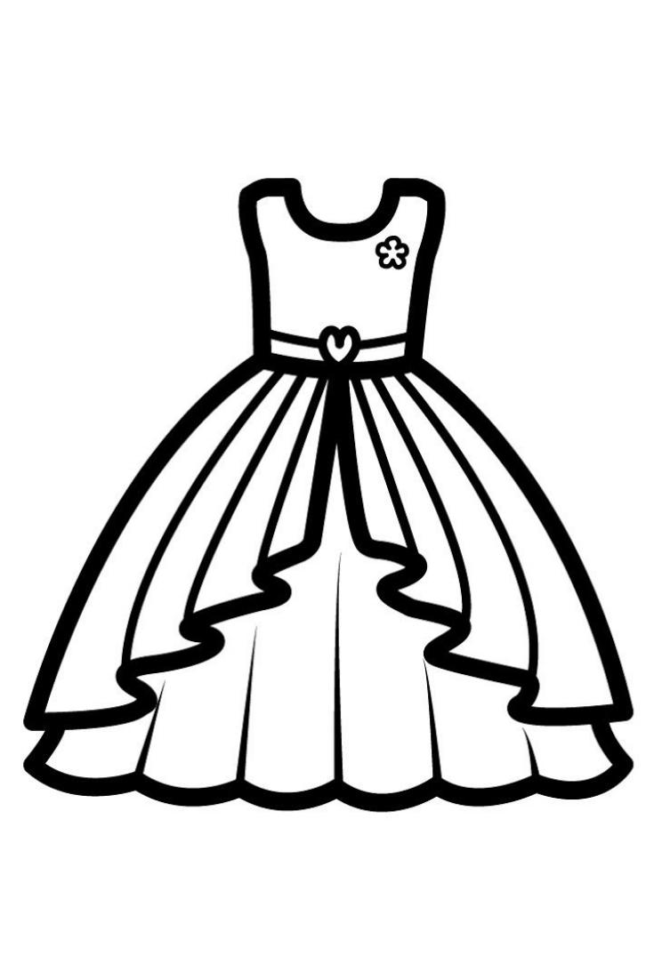 Barbie Dress Coloring Pages For Kids Barbie Dress