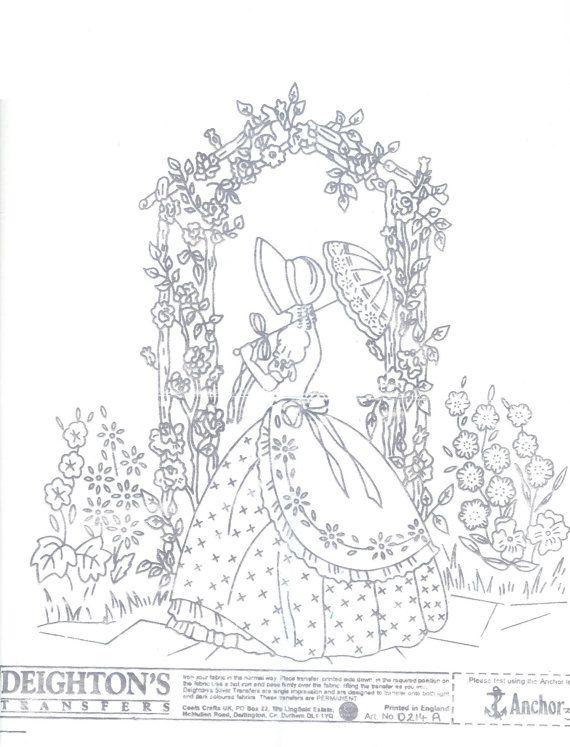 Crinoline Lady embroidery transfer original Deighton\'s 0214A | ana ...