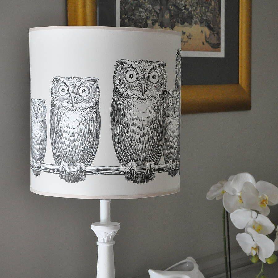 Owls lampshade lighting pinterest owl lights and owl lamp owls lampshade aloadofball Choice Image
