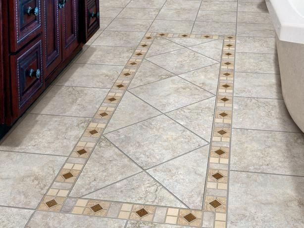 Install Ceramic And Porcelain Floor Tile Tile Floor Bathroom