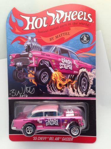 55 Chevy Bel Air Gasser Pink 2015 Rlc Hot Wheels Signed Brendon Vetuskey 55 Chevy Chevy Bel Air Hot Wheels