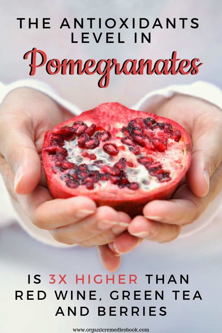 The Antioxidants Level In Pomegranates Is 3x Higher Than Red Wine Green Tea And Berries Food Lemon Benefits Coconut Health Benefits