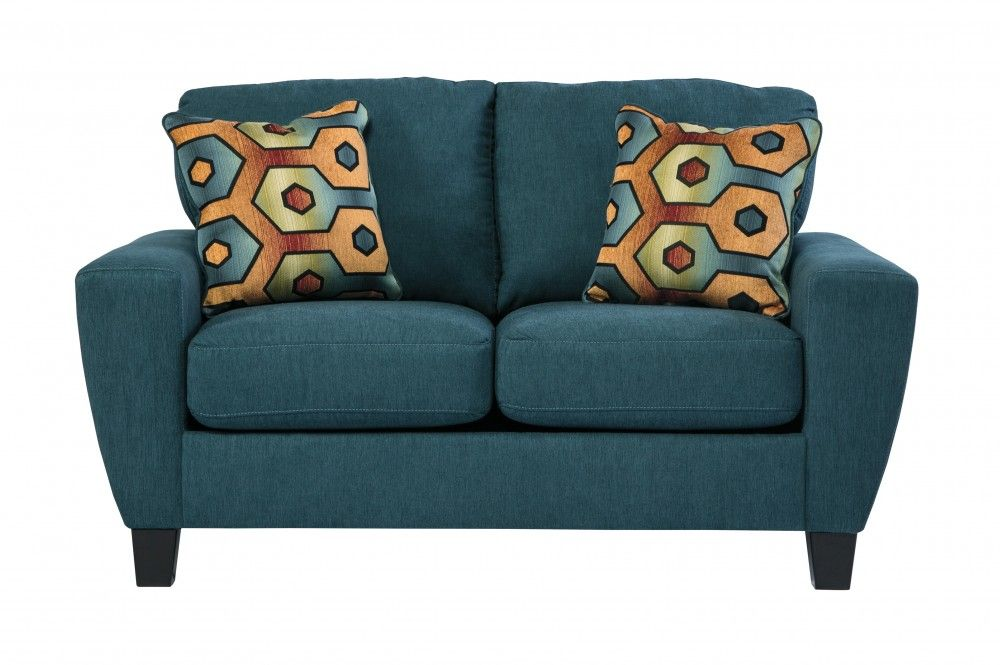 Wonderful Sagen   Teal   Loveseat By Signature Design By Ashley. Get Your Sagen    Teal   Loveseat At Furniture Factory Outlet, Warsaw IN Furniture Store.