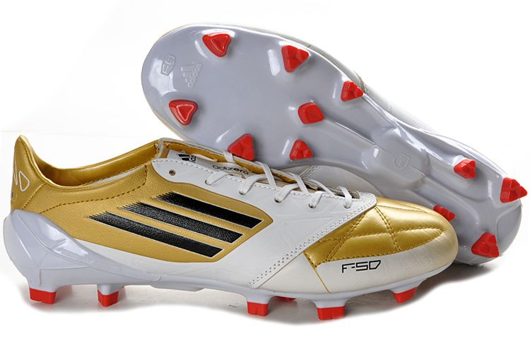 Adidas F50 Adizero Micoach Leather FG Golden White Black