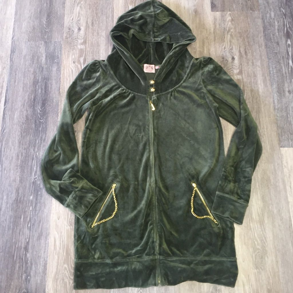 26a365481f5a Juicy Couture emerald green velvet hoodie