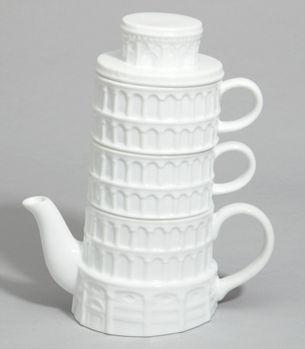 Tilting Landmark Teapots : Leaning Tower of TEAsa