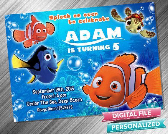 Finding Nemo Invitation Decoración De Fiestas Infantiles