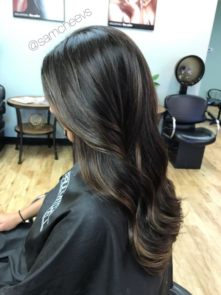 Caramel mocha honey sun kissed balayage for black and dark brown