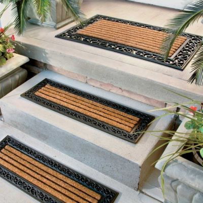 Greco Ridged Rubber Coir Doormat Amp Stair Treads Outdoor