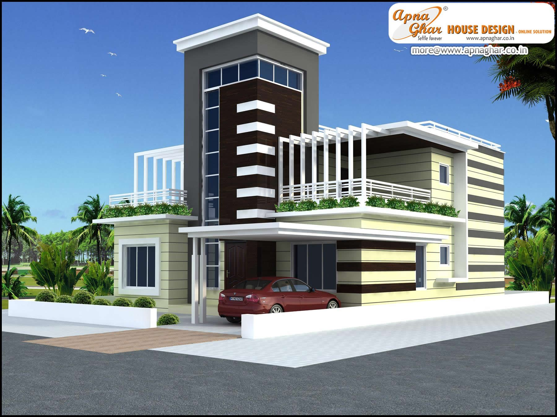 4 Bedroom Duplex 2 Floor House Design Area 252m2 21m