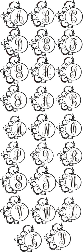 Marco de lujo del monograma del alfabeto | pintura | Pinterest ...