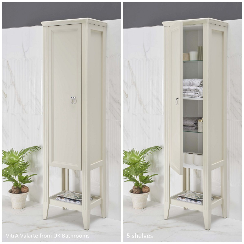 Vitra Valarte 1 Door Tall Unit Tall Cabinet Storage Tall Storage Unit Bathroom Interior