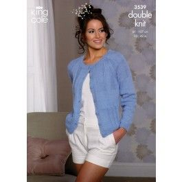 Cardigan+and+Sweater+in+King+Cole+Cottonsoft+DK+(3539)+£2.99