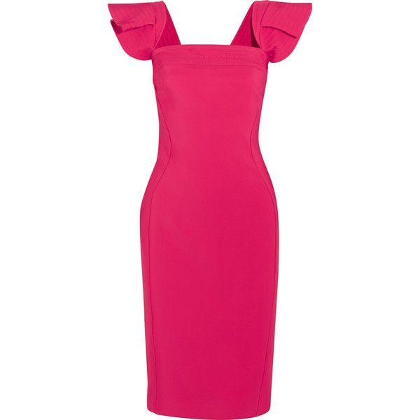 Antonio Berardi Woman Ruffled Crepe Mini Dress Fuchsia Size 40 Antonio Berardi 2xC8t