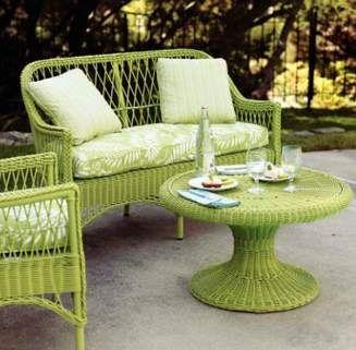 Pistachio Green Wicker Patio Furniture Wicker Patio Furniture